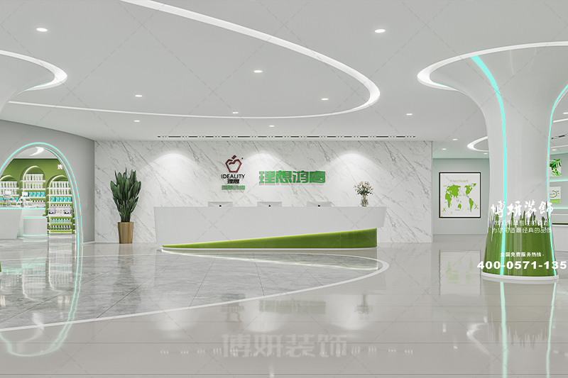 临平生物科技办公室装修设计-专业办公空间打造效果