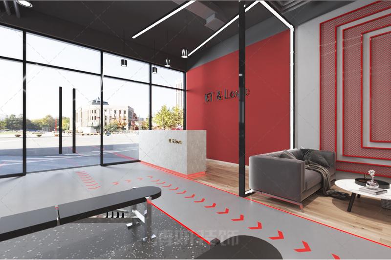 临平动感健身房装修设计-专业健身房设计效果案例